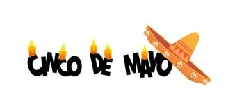 Mexican fiesta Cinco de Mayo holiday poster banner greeting card. Vector