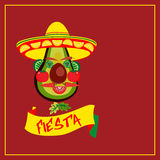 Mexican fiesta concept. Mexican Fiesta party. Mexican Holiday  poster, card, invitation, promotion. Cinco de mayo, festa junina. Idea to advertise fiesta party Stock Photography