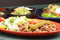 Mexican fiesta meat plate Royalty Free Stock Photography