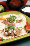 Mexican fiesta meat tacos Royalty Free Stock Images