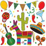 Mexican Fiesta Party stock illustration