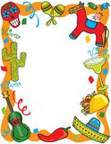 Mexican Fiesta Party Invitation. Fun and colorful invitation, great for an invitation or menu Stock Photos