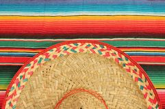 Mexican fiesta poncho rug in bright colors with so Stock Image