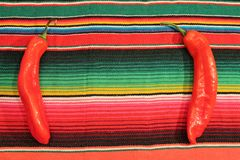 Mexican fiesta poncho rug in bright colors Stock Images