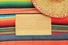 frame fiesta poncho rug sombrero Stock Photography