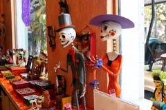 Mexican figure skeletons, dias de los muertos day of the death dead stock photography