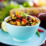 Mexican fire roasted corn and black bean salsa Stock Photos