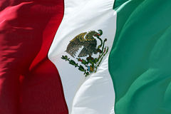 Mexican Flag. Close up of Mexican Flag royalty free stock photography