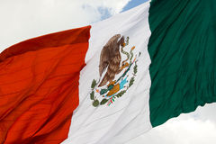 Mexican flag 3. Green, white and red Mexican flag waving Royalty Free Stock Images