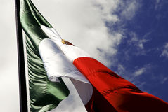 Mexican Flag. Independence day september 16, vertical bands of green, white, and red Royalty Free Stock Photos