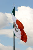Mexican flag 5. Green, white and red Mexican flag waving royalty free stock photography