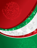 Mexican flag background Royalty Free Stock Image