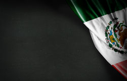 Mexican flag on blackboard background Royalty Free Stock Image