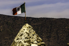 Mexican Flag. In Chapala, Jalisco, Mexico royalty free stock image