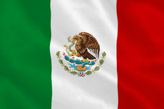 Mexican flag Royalty Free Stock Photos