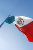 Mexican flag flying Royalty Free Stock Photo