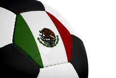 Mexican Flag - Football Royalty Free Stock Photography
