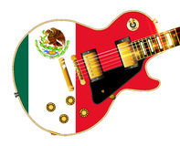 Mexican Flag Guitar Royalty Free Stock Image