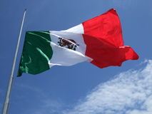 Mexican Flag at Half Mast Royalty Free Stock Photo