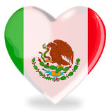 Mexican flag heart shape Stock Image