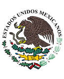 Mexican flag icon. Colored national Vector Illustration