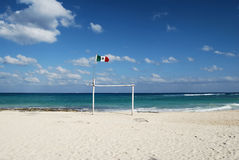 Mexican Flag over horizon Royalty Free Stock Images