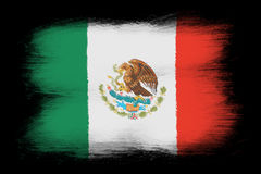 The Mexican flag Stock Images