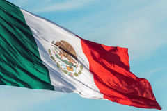 Mexican flag red white and green stock images