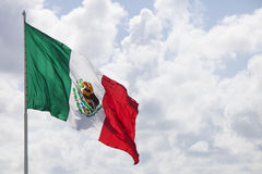 Mexican flag. In the sunlight royalty free stock image
