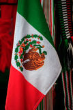 Mexican Flags. In a street market stock photo