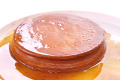 Mexican flan Royalty Free Stock Photography