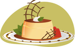 Mexican Flan illustration Royalty Free Stock Images