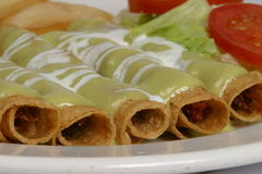 Mexican flautas stock images
