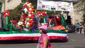 Mexican Float and Dancers stock video footage