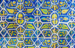 Mexican Floral Tile Abstract Background Royalty Free Stock Photo