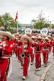 Mexican flute band parade Stock Images