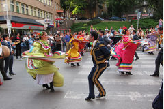 Mexican folk dancers Stock Photo