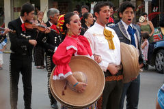 Mexican folk dancers Stock Image