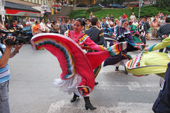 Mexican folk dancers Royalty Free Stock Images