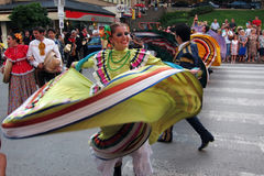 Mexican folk dancers Royalty Free Stock Photo