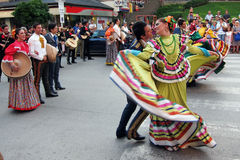 Mexican folk dancers Royalty Free Stock Photos