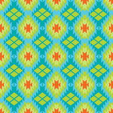 Mexican Folkloric  tracery textile seamless pattern Stock Photos