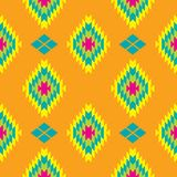 Mexican Folkloric  tracery textile seamless pattern Royalty Free Stock Image
