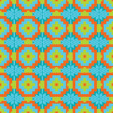 Mexican Folkloric  tracery textile seamless pattern Stock Images