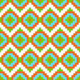 Mexican Folkloric  tracery textile seamless pattern Royalty Free Stock Images