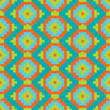 Mexican Folkloric  tracery textile seamless pattern Stock Image