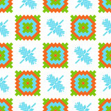 Mexican Folkloric  tracery textile seamless pattern Royalty Free Stock Photo