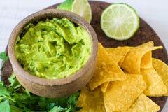 Mexican food: avocado dip Royalty Free Stock Photo