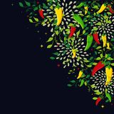 Mexican food background illustration Stock Image
