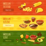 Mexican Food Banner Set Royalty Free Stock Images